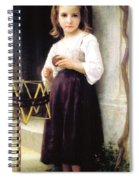 Child With A Ball Of Wool Spiral Notebook