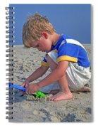 Childhood Beach Play Spiral Notebook
