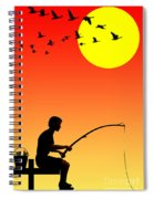 Childhood Dreams 3 Fishing Spiral Notebook