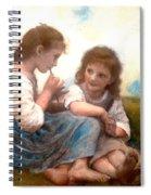 Childhood Idyllic By Bouguereau Spiral Notebook