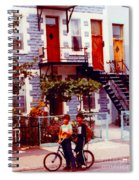 Childhood Montreal Memories Balconies And Bikes The Boys Of Summer Our Streets Tell Our Story Spiral Notebook