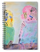 Childhood Parakeets Spiral Notebook