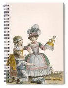 Children At Play, Engraved By Patas Spiral Notebook