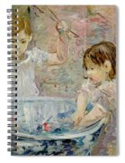 Children At The Basin Spiral Notebook