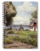 Children In A Farmyard Spiral Notebook