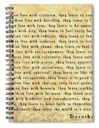 Children Learn What They Live Spiral Notebook