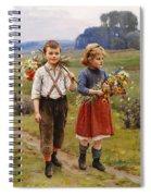 Children On The Way Home Spiral Notebook