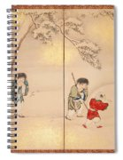 Children Playing In Summer And Winter Spiral Notebook