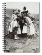 Children With Camera, C1900 Spiral Notebook