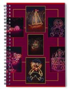 Children's Toys In Lights Poster Spiral Notebook