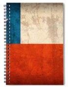 Chile Flag Vintage Distressed Finish Spiral Notebook