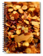 Chili Pepper Flakes Spiral Notebook