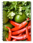 Chillies And Limes Spiral Notebook
