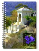 Chimes Tower Bell Flower Spiral Notebook
