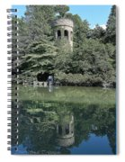 Chimes Tower Reflection Spiral Notebook