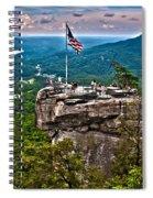 Chimney Rock At Lake Lure Spiral Notebook