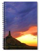 Chimney Rock Nebraska Spiral Notebook
