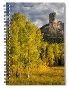Chimney Rock San Juan Nf Colorado Img 9722 Spiral Notebook