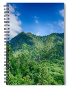 Chimney Tops Mountain In Great Smoky Mountains  Spiral Notebook