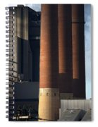 Chimneys Of Coal Power Station. Spiral Notebook