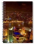 China Shanghai At Night  Spiral Notebook
