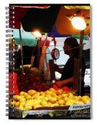 Chinatown Fruit Vendor Spiral Notebook