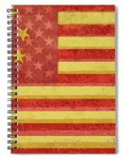 Chinese American Flag Blend Spiral Notebook
