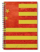 Chinese American Flag Spiral Notebook
