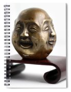 Chinese Four Faced Figure Spiral Notebook