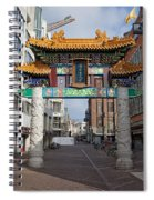 Chinese Gate To The Chinatown  Spiral Notebook
