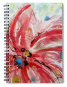 Chinese Red Flower Spiral Notebook