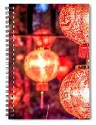 Chinese Red Lantern Spiral Notebook
