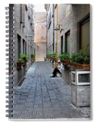 Chinese Restaurant Chef Has Quiet Moment Shanghai China Spiral Notebook
