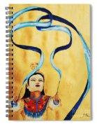 Chinese Ribbon Dancer  Blue Ribbon Spiral Notebook