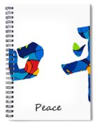 Chinese Symbol - Peace Sign 18 Spiral Notebook