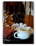 Chinese Tea Pot Cups Towel Tray And Plates Spiral Notebook