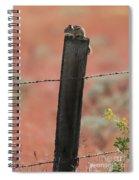 Chipmunk On Fence Post Spiral Notebook