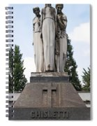 Chisletti Bonelli Memorial Front View Monumental Cemetery Milan Spiral Notebook