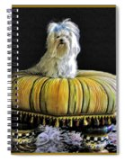 Chloe On Her Tuffet Spiral Notebook