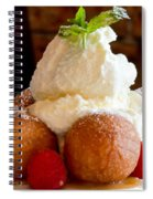 Chocolate Beignet Dessert Spiral Notebook