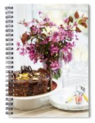 Chocolate Cake With Flowers Spiral Notebook