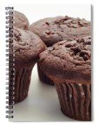 Chocolate Chocolate Chip Muffins - Bakery - Breakfast Spiral Notebook