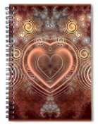 Chocolate Heart Spiral Notebook