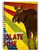 Chocolate Moose Spiral Notebook