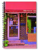 Chocolate Shop La Maison  Cakao Chocolaterie Boulangerie Patisserie Rue Fabre Montreal  Cafe Scene  Spiral Notebook