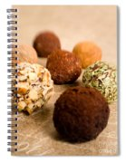 Chocolate Truffles On Gold Spiral Notebook