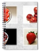 Choice Of Fruit 4 X 4 Collage 1 - Fruit Market Spiral Notebook