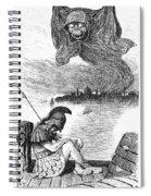 Cholera Cartoon, 1883 Spiral Notebook