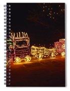 Choo Choo Train In Lights Spiral Notebook