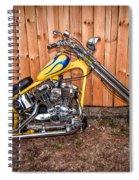 Chopper Custom Built Harley Spiral Notebook